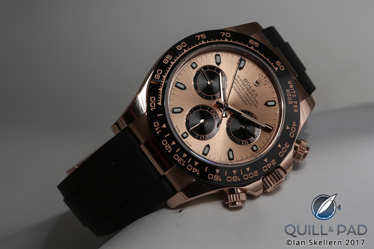 Rolex Daytona on rubber strap
