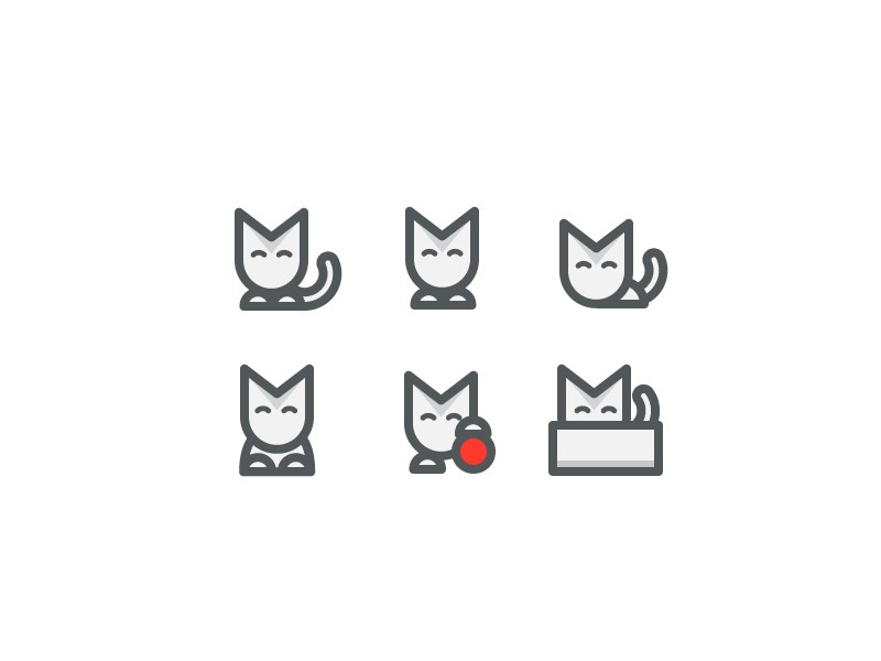 Cat icons by Eric