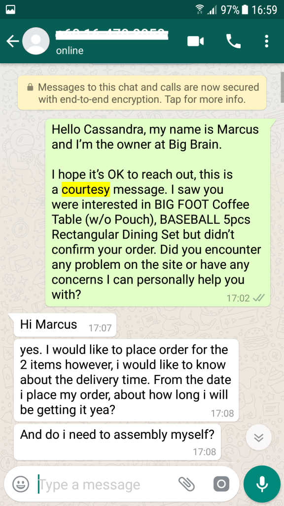 Scout and Whatsapp to Recover Lost Sales