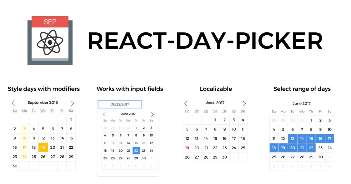 react-day-picker - Flexible date picker component for #reactjs