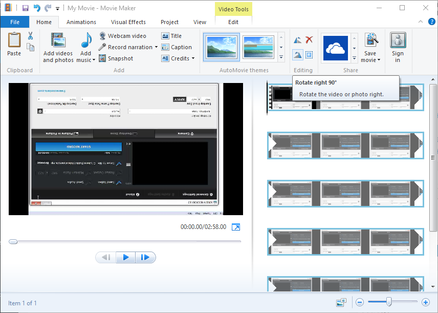 How to Fix Upside Down Videos using windows movie maker