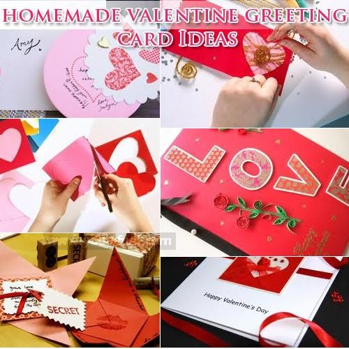 Homemade valentine day greeting cards ideas for her or him