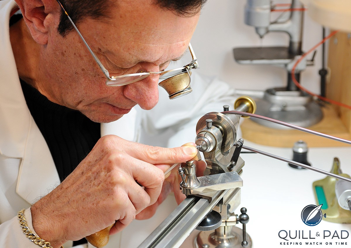 Dominique Loiseau working in his atelier
