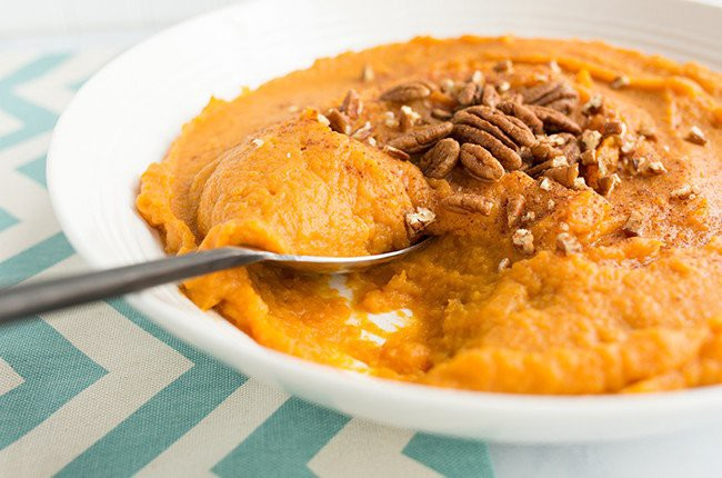 skinny mom Slow Cooker Mashed Sweet Potatoes recipe