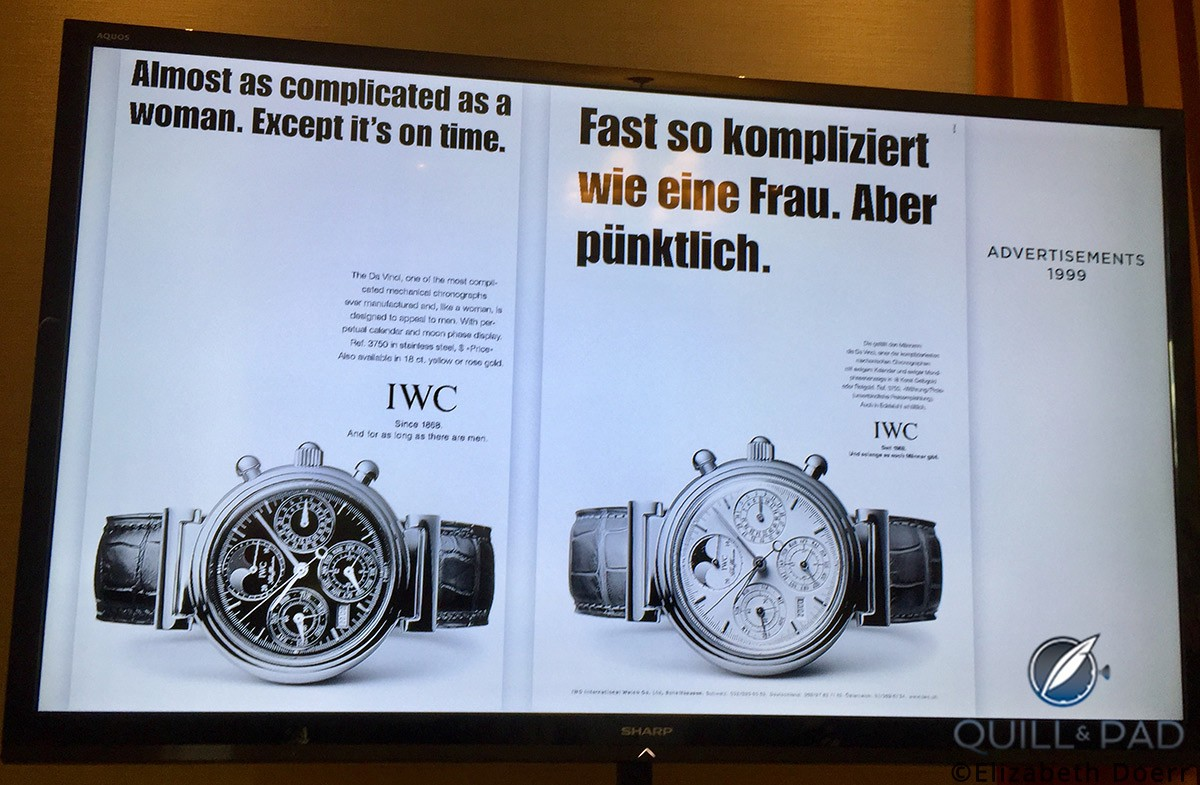 IWC advertisement from 1999