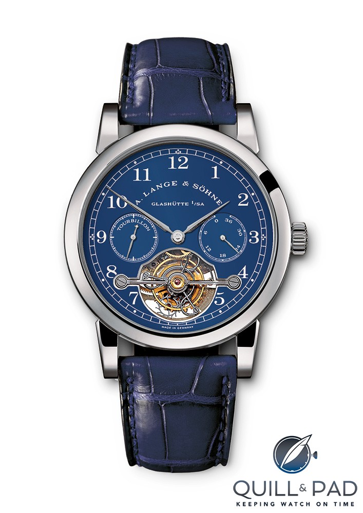 A. Lange & Söhne Tourbillon Pour le Mérite with blue dial