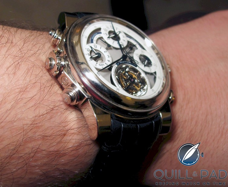 Dominique Loiseau's 1f4 on the wrist