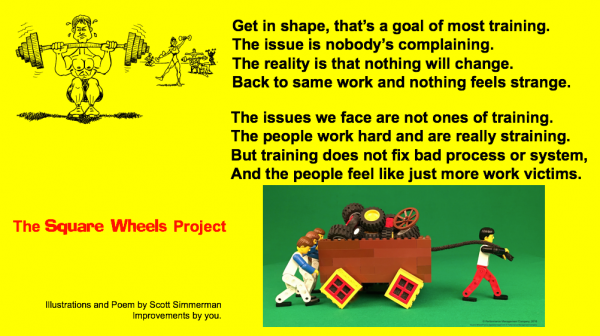 Poem on Training by Scott Simmerman for The Square Wheels project