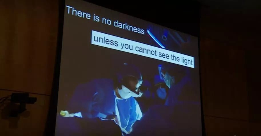 The darkness according to the Nigerian genius is useful in viewing the cancer cells.