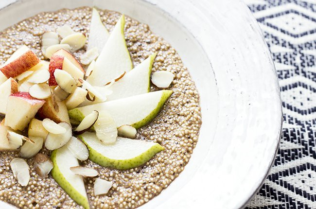 Protein Packed Fruity Breakfast Quinoa finshed close up