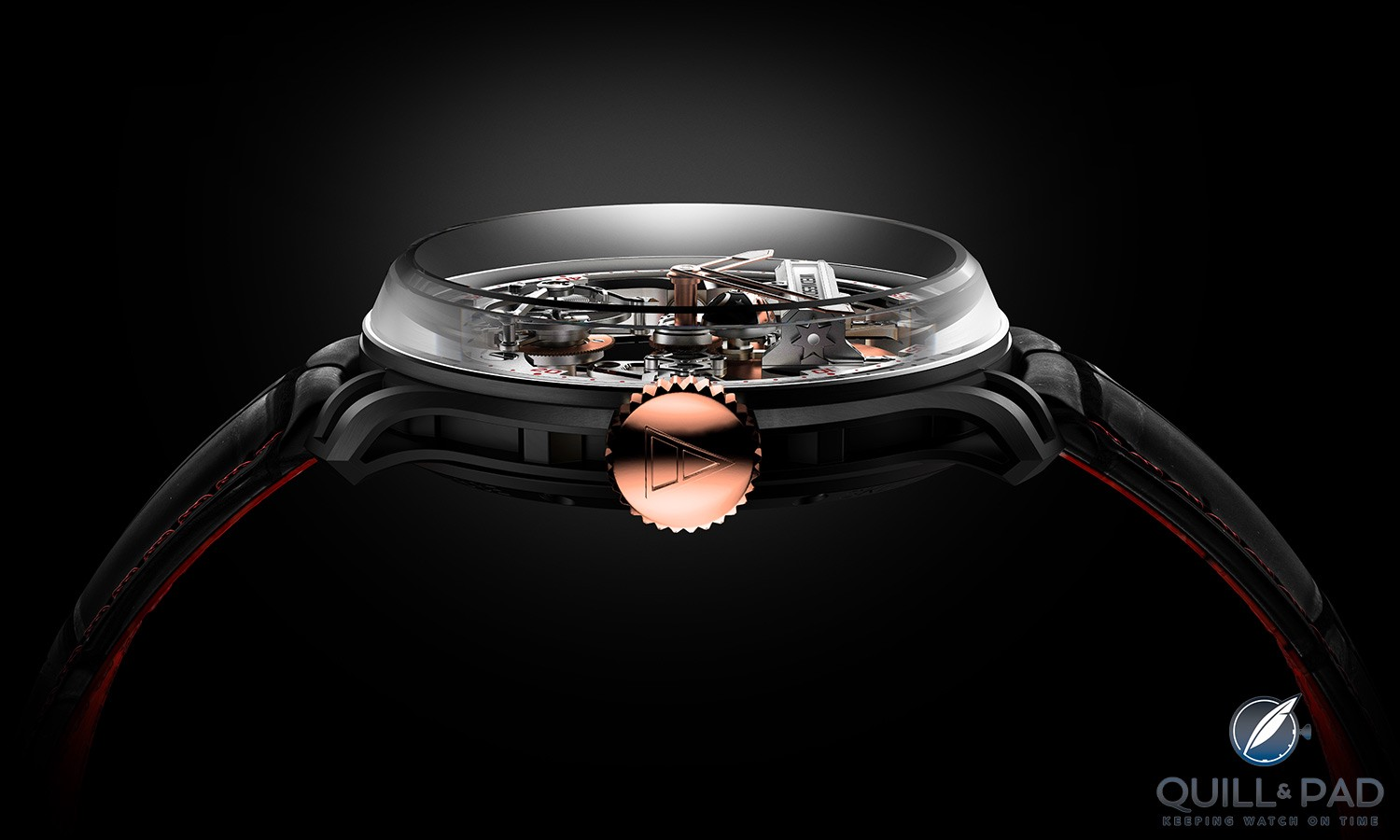 Profile view of the Franc Vila FVF Emotional Horology No 1 Superligero