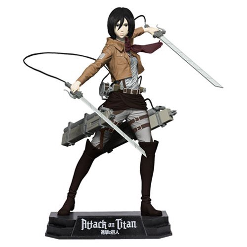 Mikasa Ackerman 7-Inch Color Tops Green Wave #20 Action Figure by McFarlane Toys