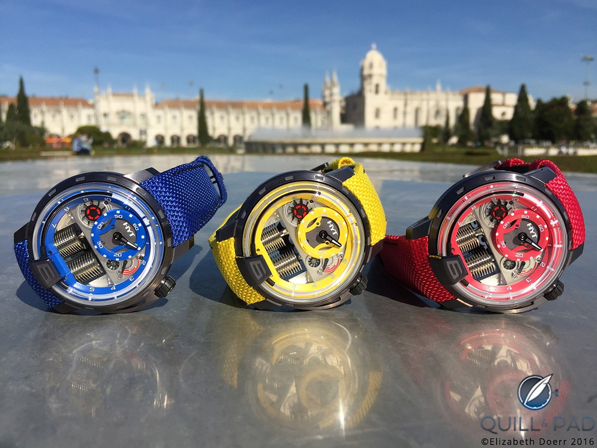 The HYT Colorblock H1 is available in three flavors