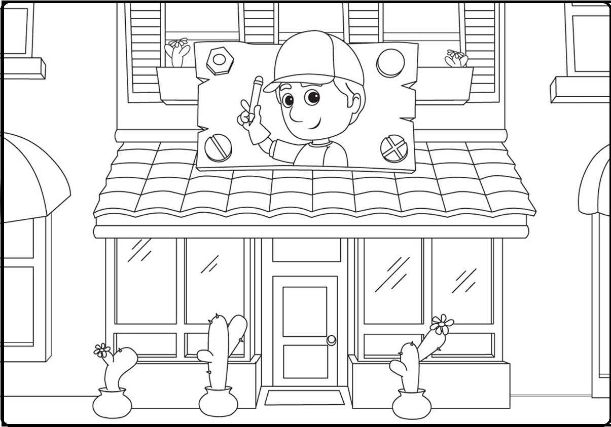 Handy Manny Coloring Pages – Indah Pertiwi – Medium