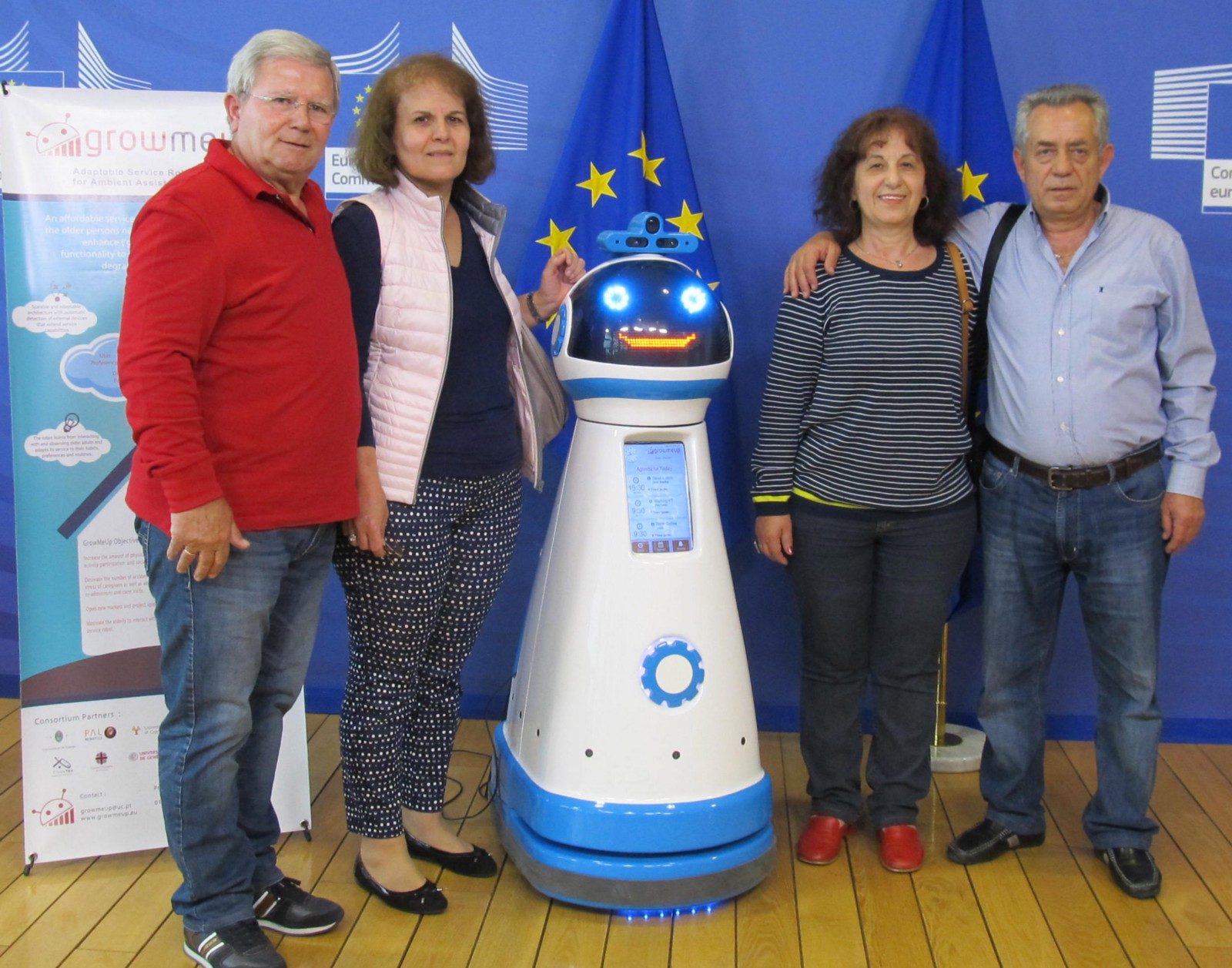 The proportion of elderly people is expected to almost double by 2080, so researchers are looking to robots to see if they can help care for the aging population. Image credit: GrowMeUp