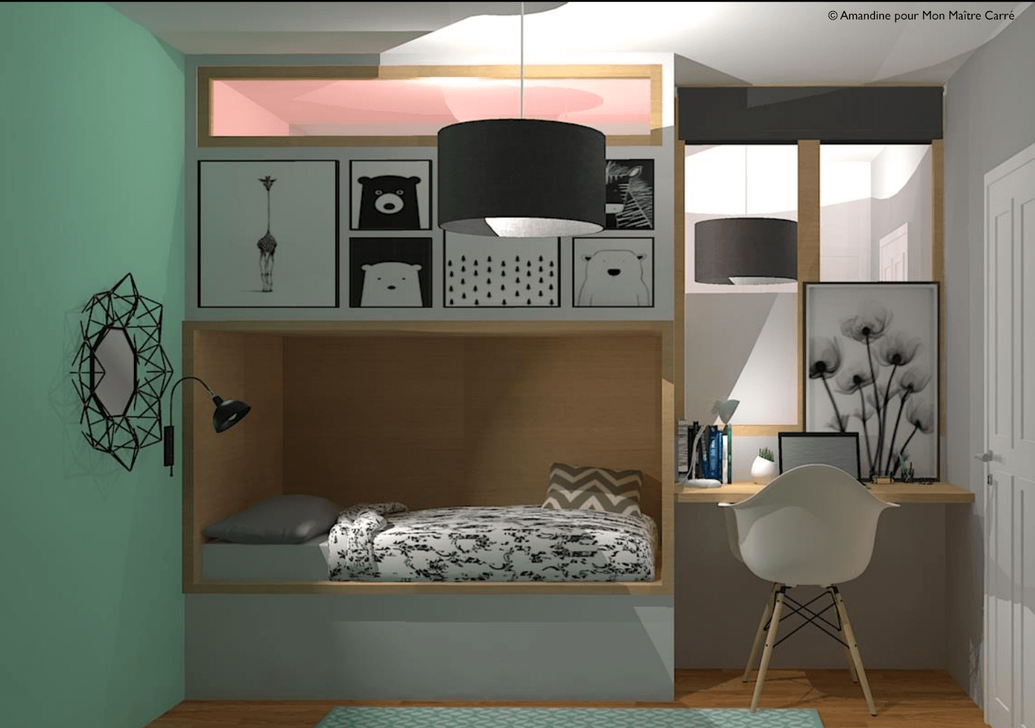 avant apr s transformation d un s jour en 2 chambres d enfants. Black Bedroom Furniture Sets. Home Design Ideas