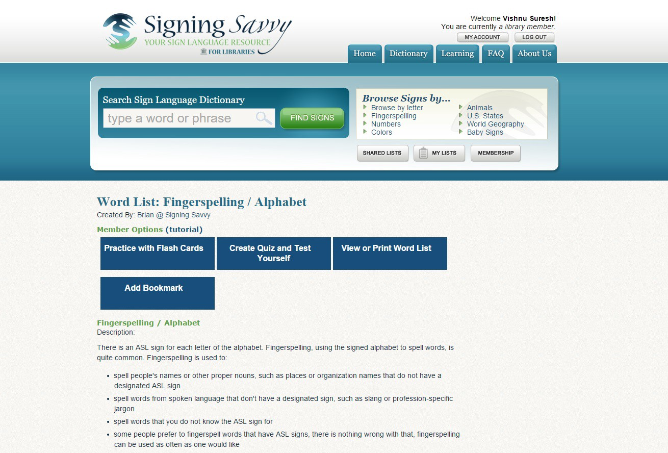 Signing Savvy - Learn How to Sign Language in ASL