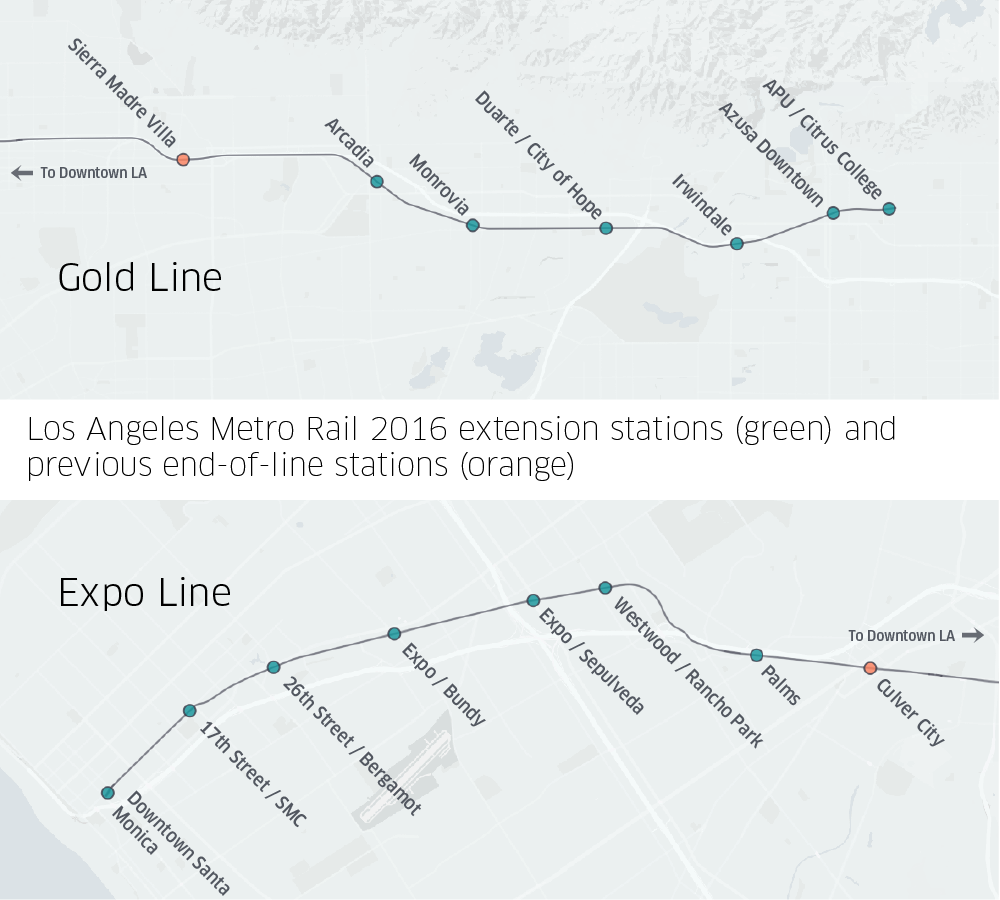 How Uber Works Together With Southern Californias Growing Rail - Los angeles metro map 2016