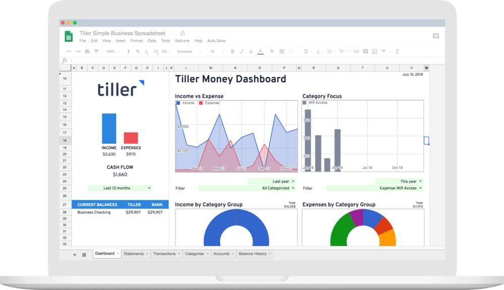introducing the tiller simple business spreadsheet for freelancers