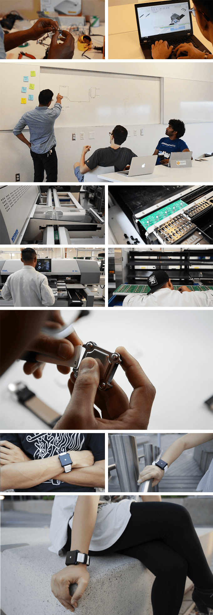 Photo gallery showing our process for creating Moment.