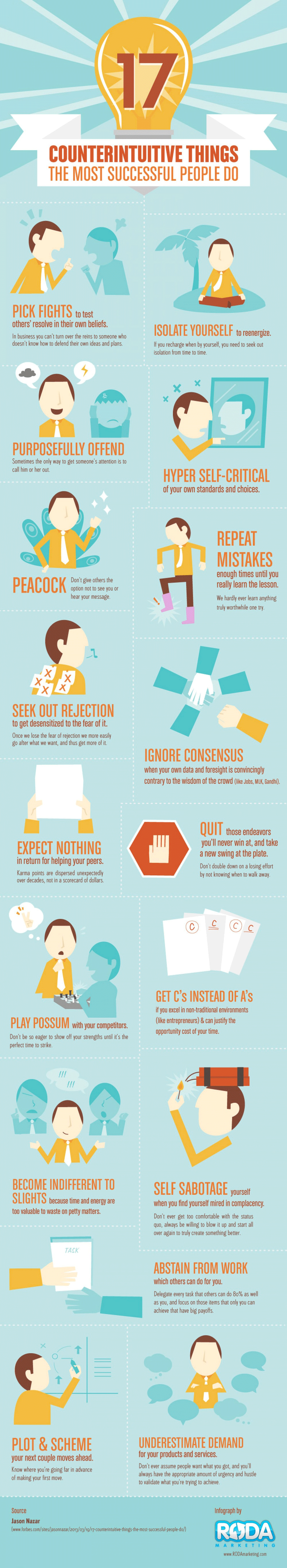 17 Surprising Habits of the Most Successful People [Infographic]