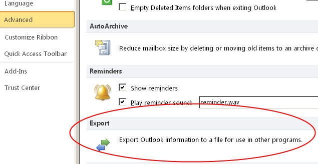 How to Export the Calendar from Outlook – TimeTrackingThoughts