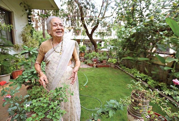 """""""If you keep your mouth open for too long, Sudha will plant a tree there too!"""", says her husband, Sarvotham Pai"""
