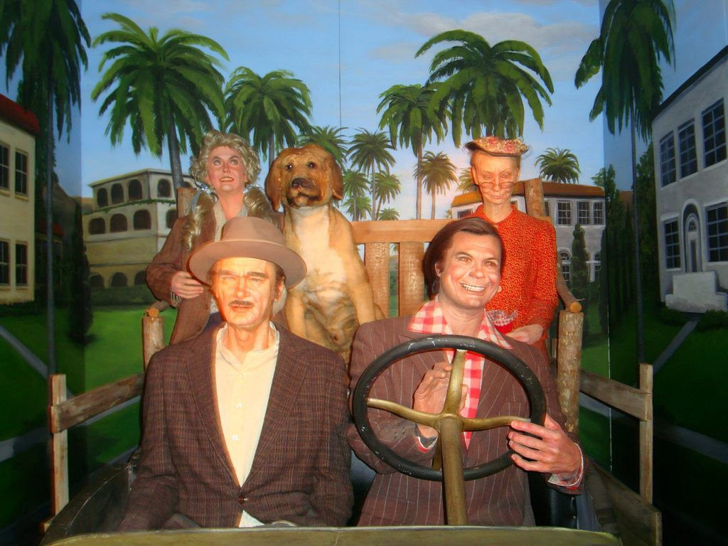 Photo by Shawn Perez, depicting dummies of several characters from The Beverly Hillbillies. Context unknown.