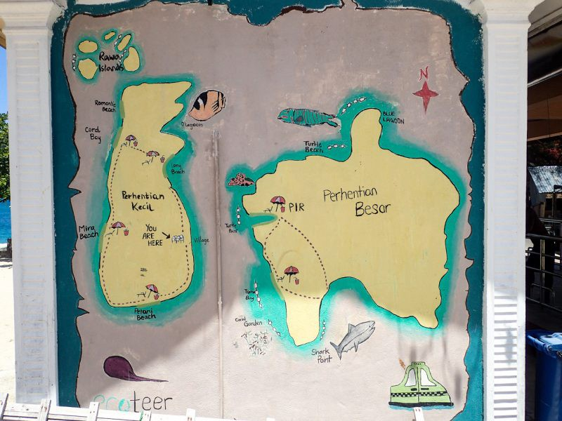 Map of the Perhentian Islands