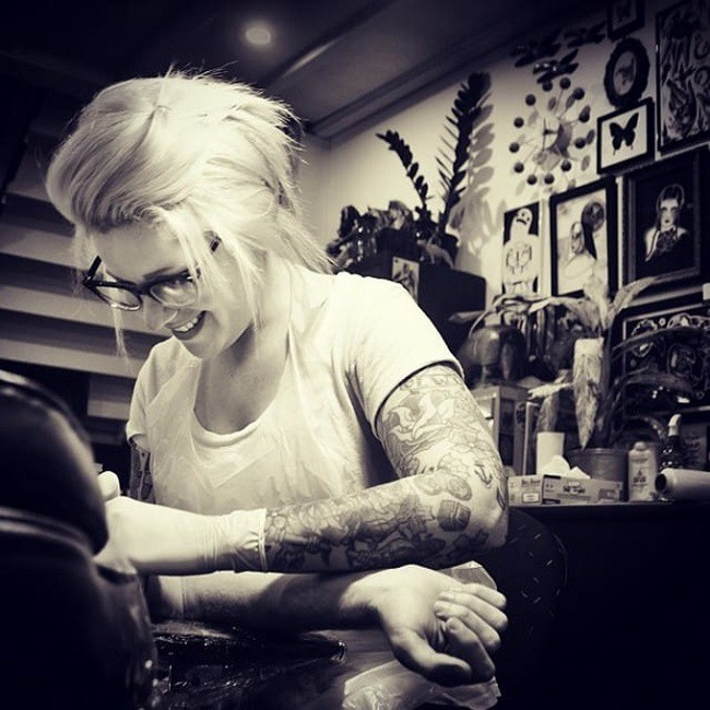 Clare Clarity at work by MyTatouage