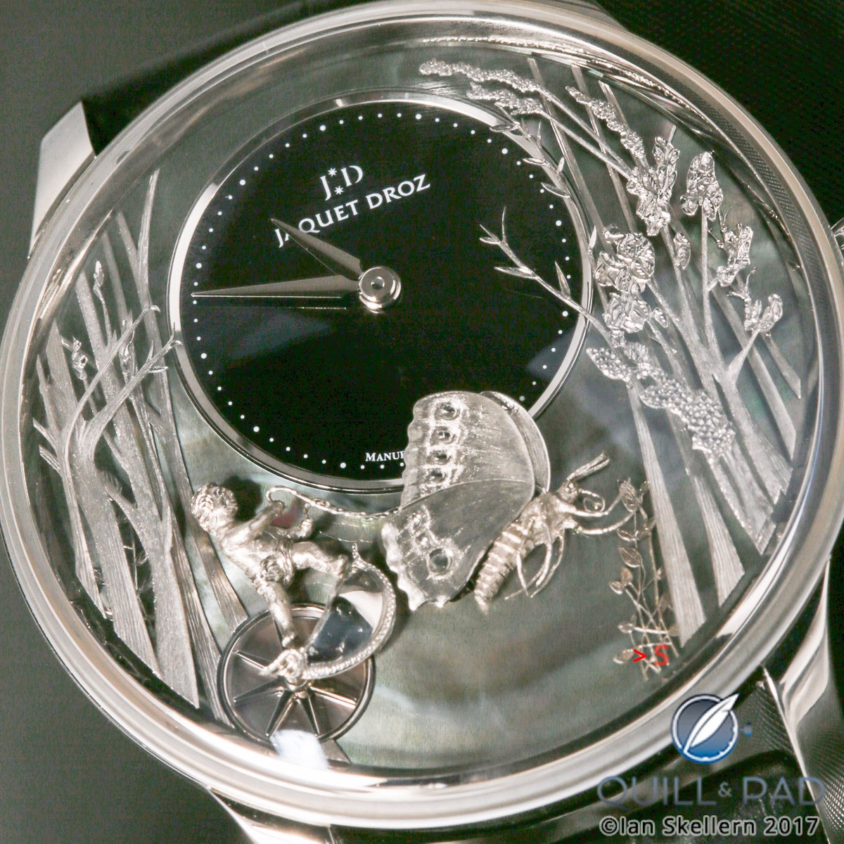 Jaquet Droz Loving Butterfly in white gold