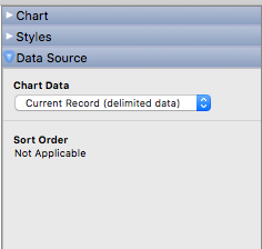 FileMaker Charting Data Source: Current Record (Delimited Data)