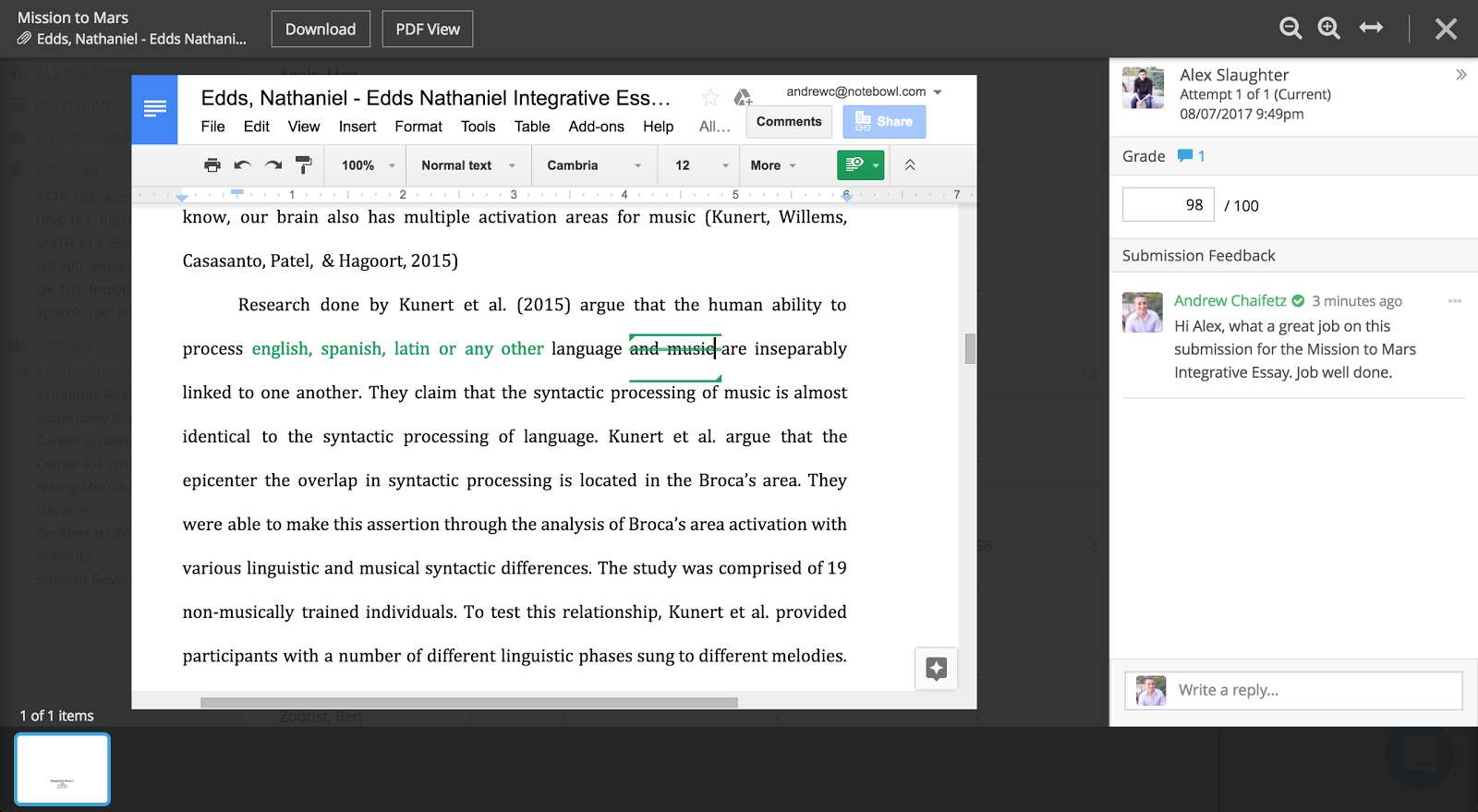 Notebowl rolls out annotations with google docs notebowl while google docs offers real time collaboration within a single document faculty may not always want students to see their commentary and edits in ccuart Image collections