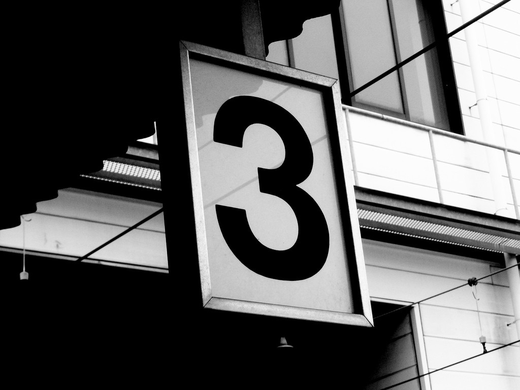 3 sign