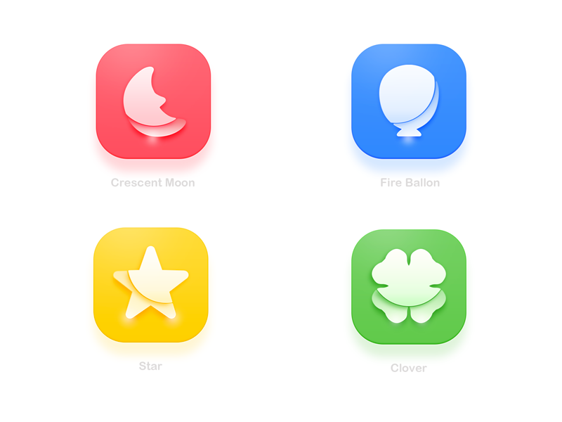Light weight icon by Yodel Hou