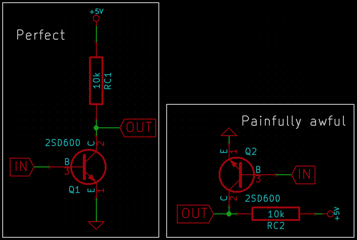 Few Pcb Schematic Tips A Beginners Guide Spurrya Medium Circuit Diagram 2 Try To Follow The Conventions Input On Left Output Right Voltage Supply Top And Ground Bottom
