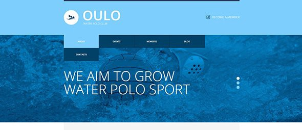 Transparent Photo Overlays Water Polo Responsive Website Template