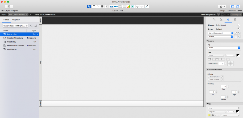 The Layout-Mode Window. Redesigned.