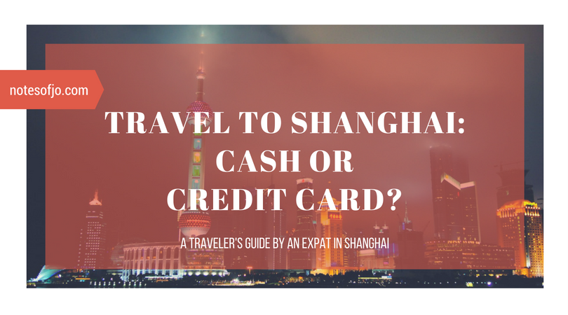 travel to shanghai cash credit card