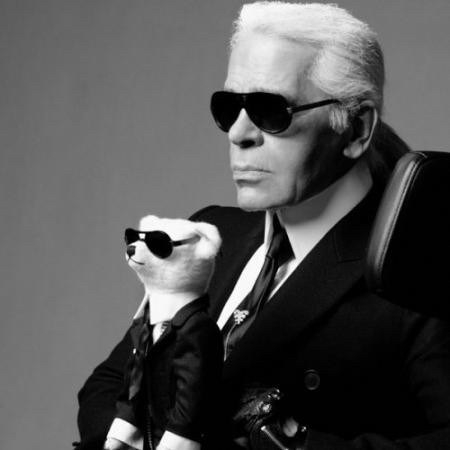 Karl Lagerfeld and some animal