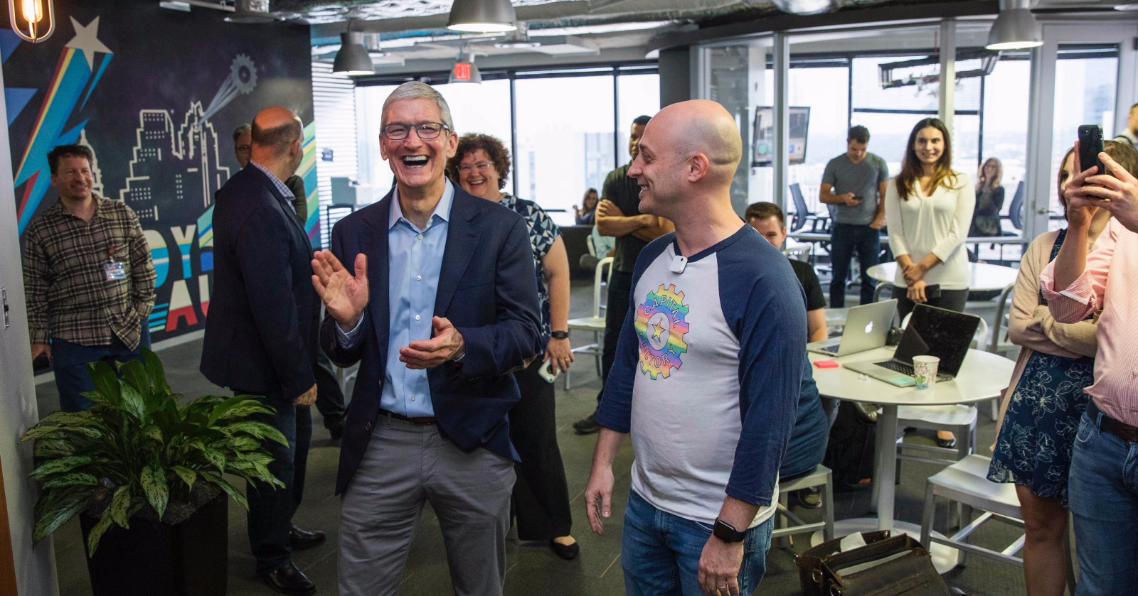 Thrilled by the response apple ceo tim cook said in a tweet that it - Thx Joshuabaer For A Fantastic Morning Capitalfactory Developer Creativity Is Off The Charts We Re As Excited About Ios 11 As You Are Pic Twitter Com