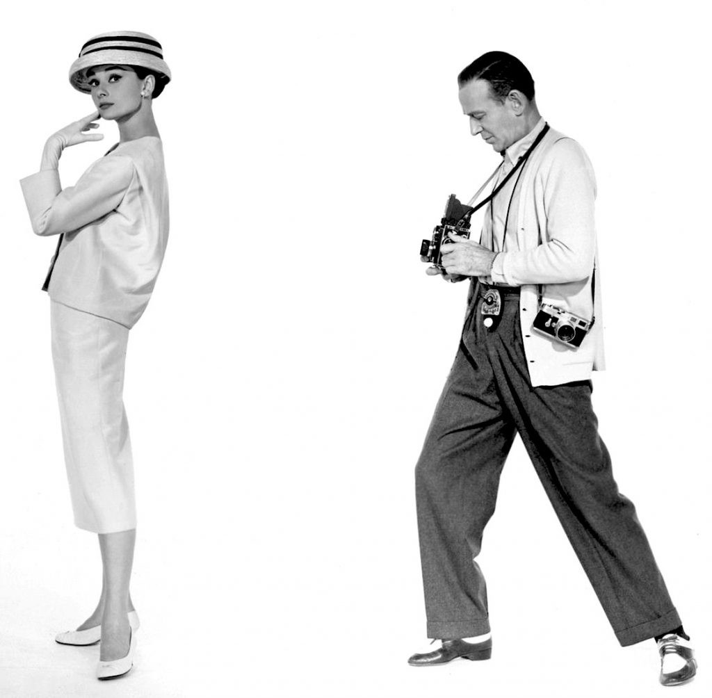 Fred Astaire and Audrey Hepburn, in a promo shot for the 1957 movie, 'Funny Face.'