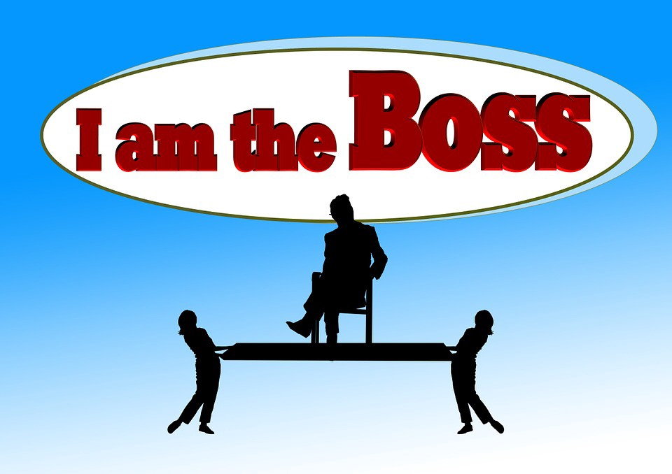 I am the boss graphic
