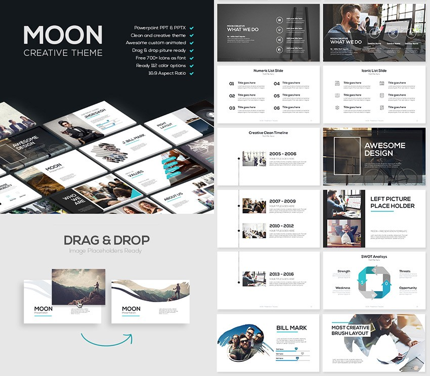 20 best powerpoint templates best digital themes medium this modern ppt theme has a number of cool features such as creative shapes transparency effects and custom graphics that add elegance to these toneelgroepblik Choice Image