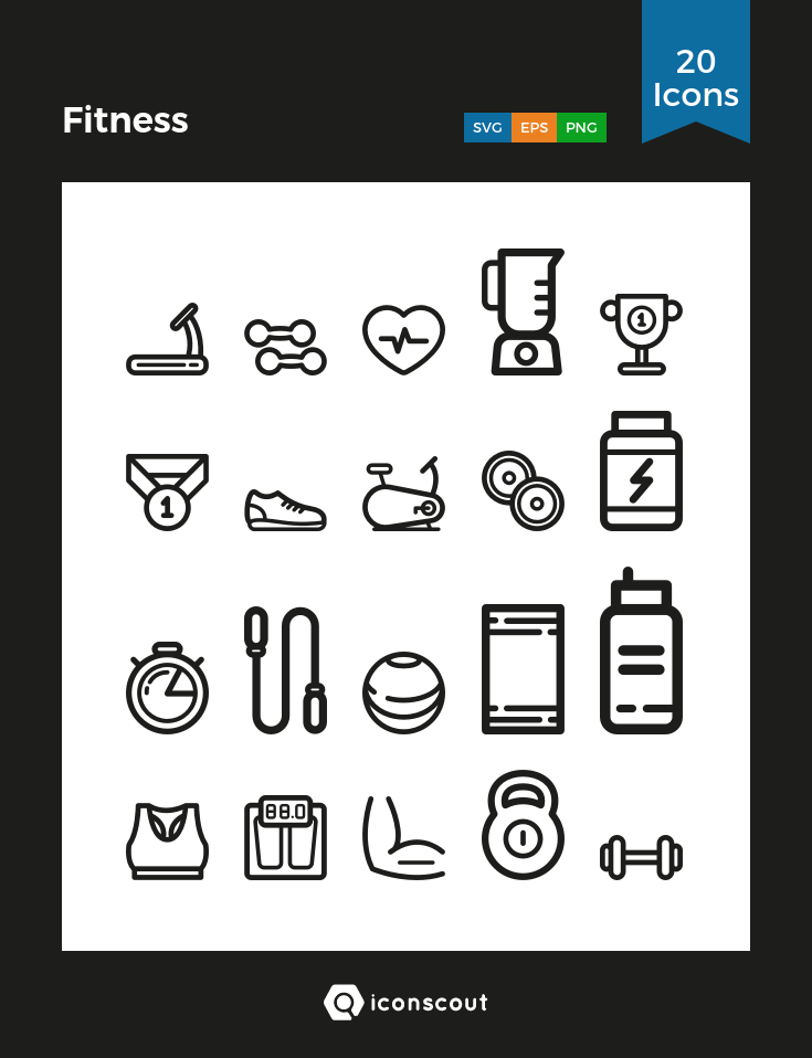 Fitness icons by Sooodesign .