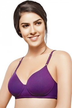 Hanes Seamless Padded Wirefree Cotton T- Shirt Bra