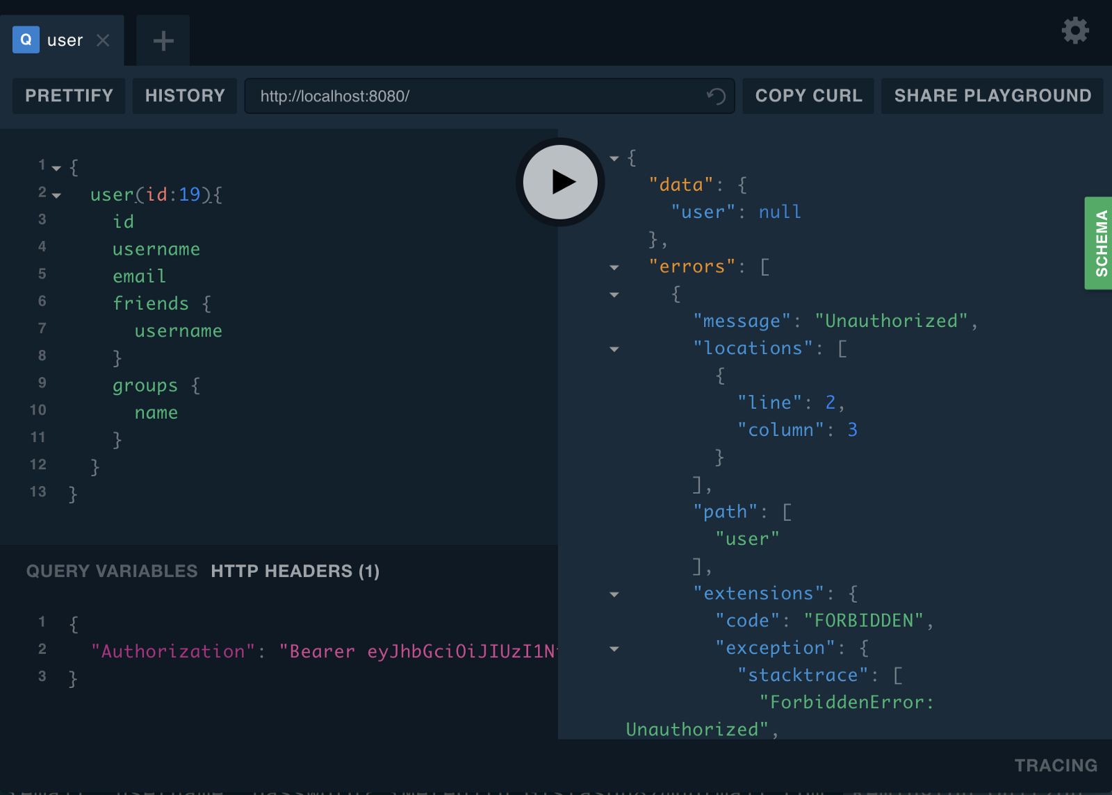Building Chatty Part 7 Graphql Authentication React Native Alfa Img Showing Gt Basic Computer Monitor Diagram Were Not Logged In As User 19 Unauthorized