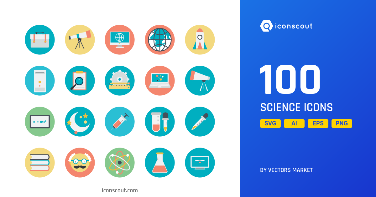 Science icons by Vectors Market