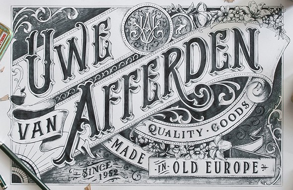 Hand-drawn-Type-Artworks-2015-on-Behance