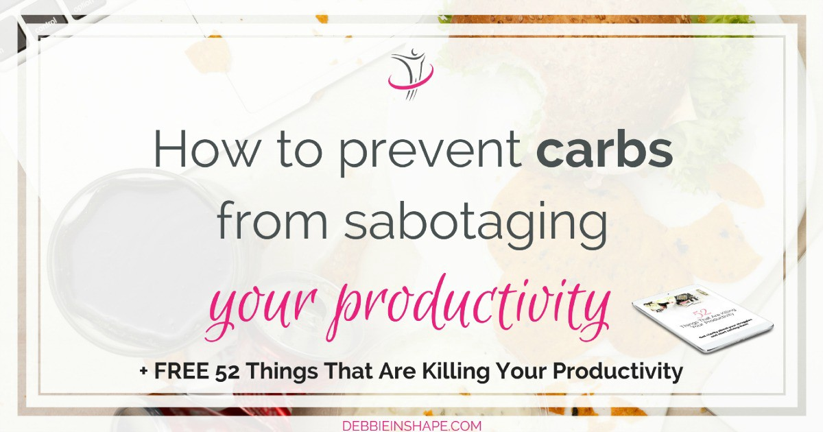 Learn why carbs and productivity aren't a good combo. Discover 3 ways you can eat right to boost your efficiency. Read more on the blog!